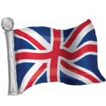 "22"" Union Jack Flag of Great Britain SuperShape Foil Balloon"